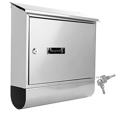 SereneLife Indoor/Outdoor Wall Mount Locking Mailbox White (93599567M)