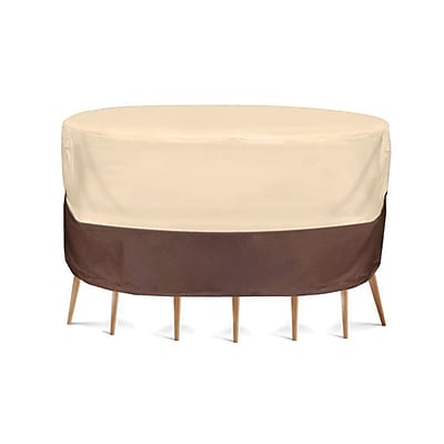 Armor Shield Polyester Fabric 4.5' x 4.5' Table and Chair Set Cover Brown (93599249M)