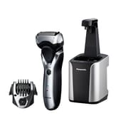 Panasonic ARC33-Blade Electric Shaver with Automatic Clean and Charge Station Wet/Dry Silver (93599614M)
