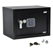 Serene Life Compact Electronic Safe Box with Mechanical Override (93599578M)