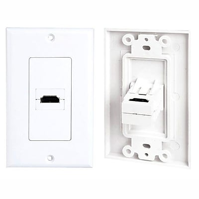 Pyle (93579115M) Single HDMI Wall Plate 90 Degree Exit Port