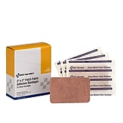 "First Aid Only 2"" x 3"" Heavy Woven Fabric Adhesive Bandages, 25/Box (G160)"