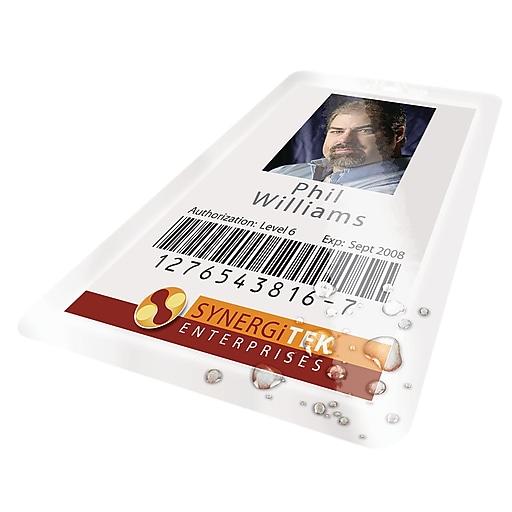 Swingline GBC HeatSeal UltraClear Thermal Pouches, ID Tag, 100/Box (3200016)