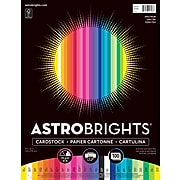 "Astrobrights Spectrum Cardstock Paper, 8.5"" x 11"", 65 lbs, Assorted Colors, 100/Pack (91398)"