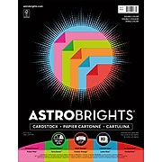 """Astrobrights Double Color 3 Cardstock Paper, 70 lbs, 8.5"""" x 11"""", Assorted Colors, 80/Pack (91668)"""