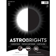 "Astrobrights Cardstock Paper, 65 lbs, 8.5"" x 11"", ""Black/White"" 2-Color Assortment, 100/Pack (916147)"
