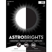"""Astrobrights Cardstock Paper, 65 lbs, 8.5"""" x 11"""", """"Black/White"""" 2-Color Assortment, 100/Pack (916147)"""