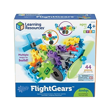 Learning Resources Gears! Gears! Gears! FlightGears, Assorted Colors, 44 Pieces/Set (LER9236)