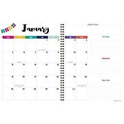 """2020 TF Publishing 9""""W x 11""""L Planner, Love Rainbows, Pink (20-9548)"""