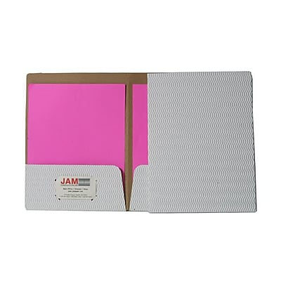 JAM Paper® Corrugated Fluted Folders, White, 6/pack (88506d)