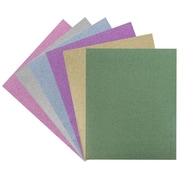 JAM Paper® 2 Pocket Plastic Glitter Folders, Assorted Sparkling Colors, 6/pack (383Gasst)