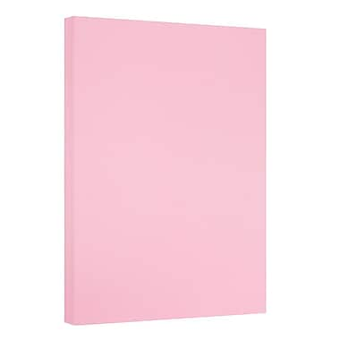 JAM Paper® Vellum Bristol Tabloid Cardstock, 11 x 17, 67 lb. Pink, 50/pack (16932848)
