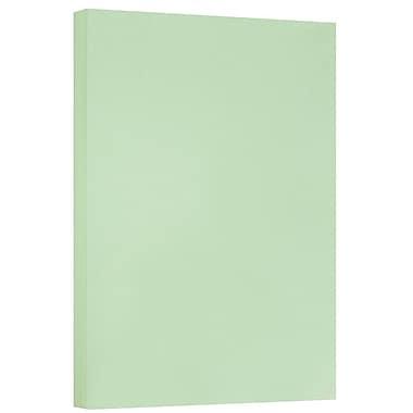 JAM Paper® Vellum Bristol Tabloid Cardstock, 11 x 17, 110lb Green, 50/pack (16932843)