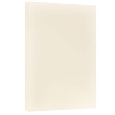 JAM Paper® Vellum Bristol Tabloid Cardstock, 11 x 17, 67 lb. Creme, 50/Pack (16932833)