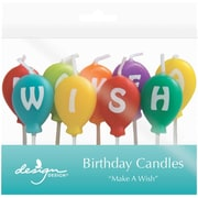 JAM Paper® Birthday Candles, Make A Wish Birthday Candle Set, 2.75 x 3.75, 9 Candles (52675707345)
