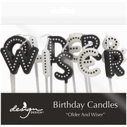 JAM Paper® Birthday Candles, Older and Wiser Birthday Candle Set, 2.75 x 3.75, 11 Candles (52675707346)