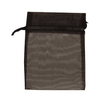JAM Paper® Sheer Organza Bags, Medium, 5 x 6.5, Black, 12/pack (SPC17K20a)