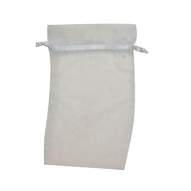 JAM Paper® Sheer Organza Bags, Large, 5.5 x 9, Baby Blue, 12/Pack