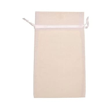 JAM Paper® Sheer Organza Bags, Large, 5.5 x 9, White, 12/pack (SPC24K1a)