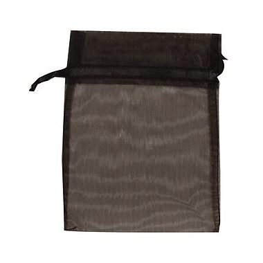 JAM Paper – Sac en organza diaphane, petit, 4 x 5,5 po, noir, 12/paquet