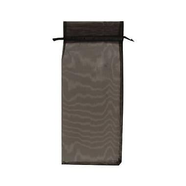 JAM Paper® Sheer Organza Wine Bags Carriers, 6 x 14, Black, 12/pack (SPC34K20a)