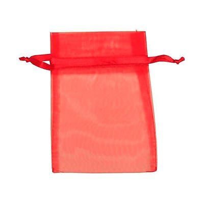 JAM Paper® Sheer Organza Bags, Small, 4 x 5.5, Red, 12/pack (SPC14K11a)