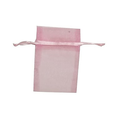 JAM Paper® Sheer Organza Bags, X Small, 3 x 4, Baby Pink, 12/pack (SPC10K3a)