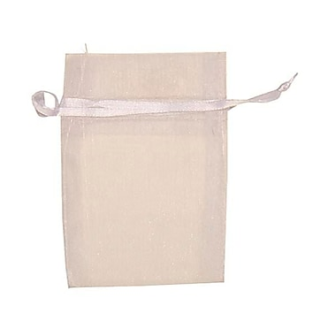 JAM Paper® Sheer Organza Bags, X Small, 3 x 4, White, 12/pack (SPC10K1a)