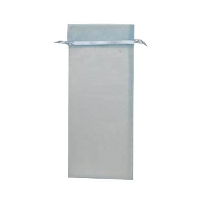 JAM Paper® Sheer Organza Wine Bags Carriers, 6 x 14, Baby Blue, 12/pack (SPC34K5a)