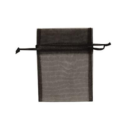 JAM Paper® Sheer Organza Bags, X Small, 3 x 4, Black, 12/pack (SPC10K20a)