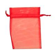 JAM Paper® Sheer Organza Bags, Medium, 5 x 6 1/2, Red, 12/Pack (SPC17K11a)