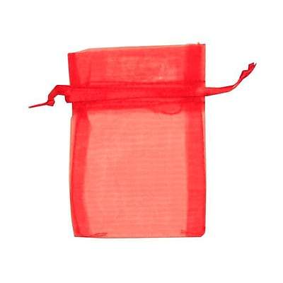 JAM Paper® Sheer Organza Bags, X Small, 3 x 4, Red, 12/pack (SPC10K11a)