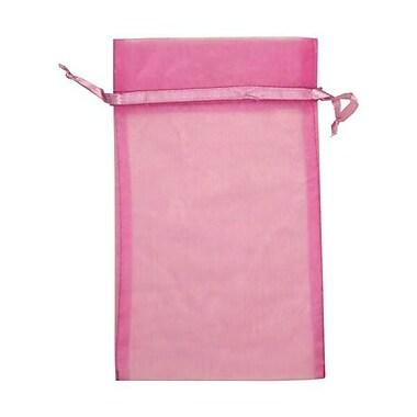 JAM Paper® Sheer Organza Bags, Large, 5.5 x 9, Violet, 12/Pack