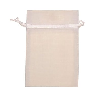 JAM Paper® Sheer Organza Bags, Small, 4 x 5.5, White, 12/Pack