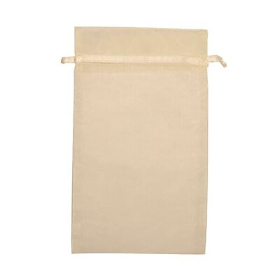 JAM Paper® Sheer Organza Bags, Large, 5.5 x 9, Ivory, 12/pack (SPC24K2a)