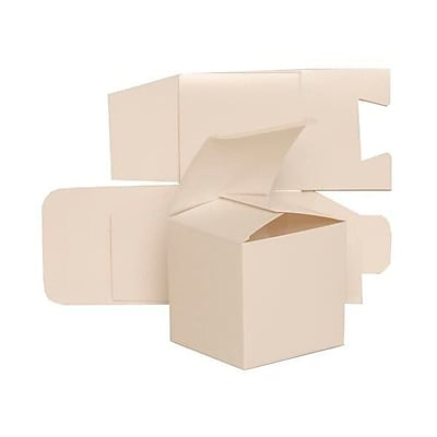 JAM Paper Glossy Gift Boxes, 3.5 x 3.5, White, 10/pack (2238319104b) 24006003