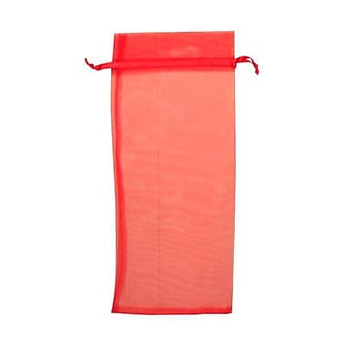 JAM Paper® Sheer Organza Wine Bags Carriers, 6 x 14, Red, 12/pack (SPC34K11a)