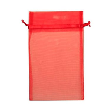 JAM Paper® Sheer Organza Bags, Large, 5.5 x 9, Red, 12/pack (SPC24K11a)