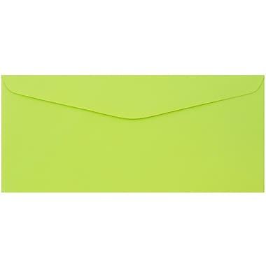 JAM Paper® #9 Envelopes, 3 7/8 x 8 7/8, Ultra Lime Brite Hue, 50/Pack (1532898I)