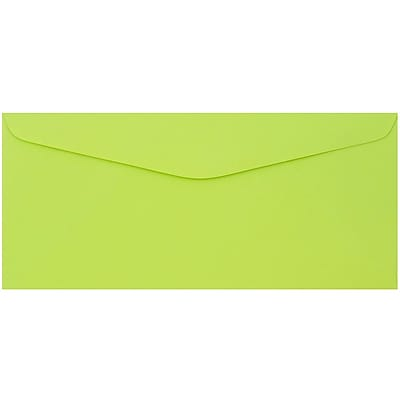 JAM Paper® #9 Envelopes, 3 7/8 x 8 7/8, Ultra Lime Brite Hue, 50/pack (1532898i)