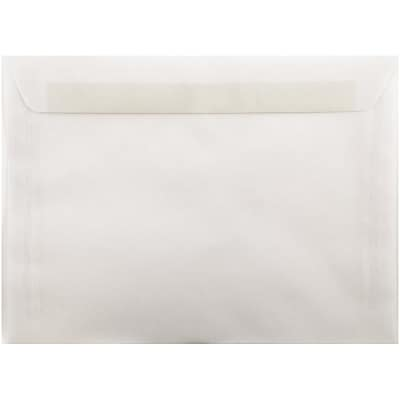 JAM Paper® 9 x 12 Booklet Envelopes, Clear Translucent Vellum, 500/pack (2851371c)