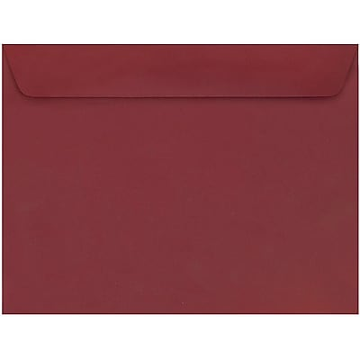 JAM Paper® 9 x 12 Booklet Envelopes, Dark Red, 250/pack (31511309h)