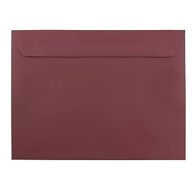JAM Paper® 9 x 12 Booklet Envelopes, Burgundy, 100/pack (63931159d)