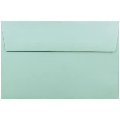 JAM Paper® A9 Invitation Envelopes, 5.75 x 8.75, Aqua Blue, 250/pack (157461h)