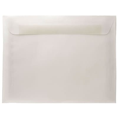 JAM Paper® 8.75 x 11.5 Booklet Envelopes, Clear Translucent Vellum, 50/pack (2851370i)