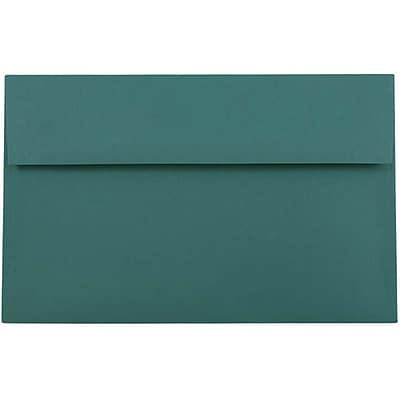 JAM Paper® A10 Invitation Envelopes, 6 x 9.5, Teal, 50/pack (157471i)