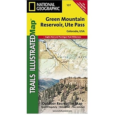 National Geographic Map Of Green Mountain Reservoir-Ute Pass - Colorado(NGS321)