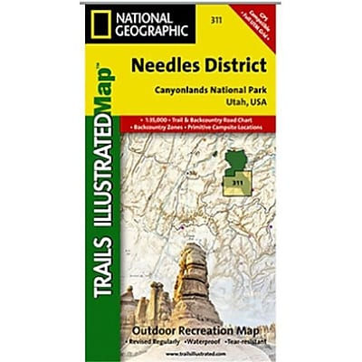 National Geographic Map Of Canyonlands - Needles District - Utah(NGS271) 24010449
