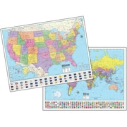 Universal Map 48 x 36 Inch Advanced Us, World Physical Paper - Rolled Maps(RTL249028)