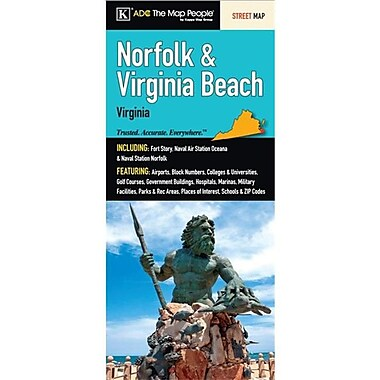Universal Map Norfolk-Virginia Beach Fold Map(RTL249827)